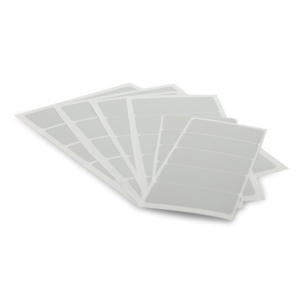 White Badge Panel 99x43mm for yellow plates