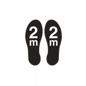 Black 2m Footprints Floor Sticker