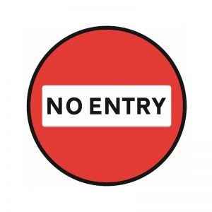 No Entry Floor Sticker