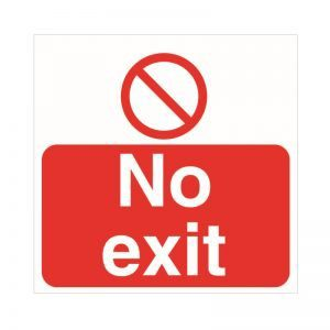 No Exit Floor Sticker