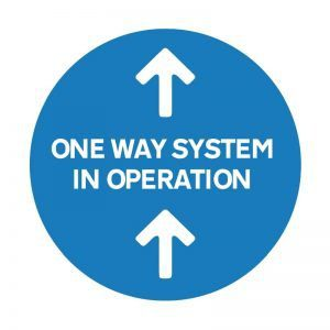 One Way System Floor Sticker