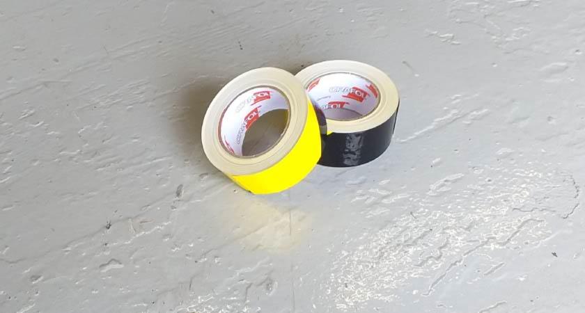 Premium Yellow and Black Self-Adhesive Tape Rolls