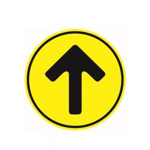 Yellow Direction Arrow Floor Sticker