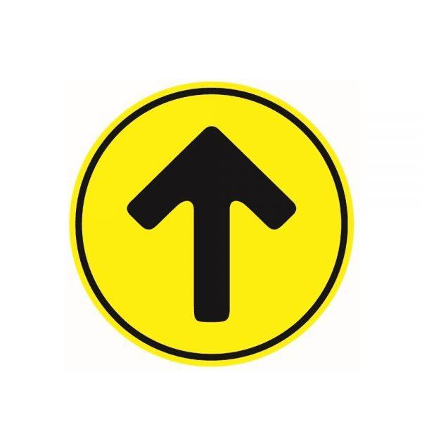 Yellow Direction Arrow Floor Sticker