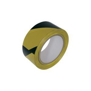 Yellow and Black Self-Adhesive Tape