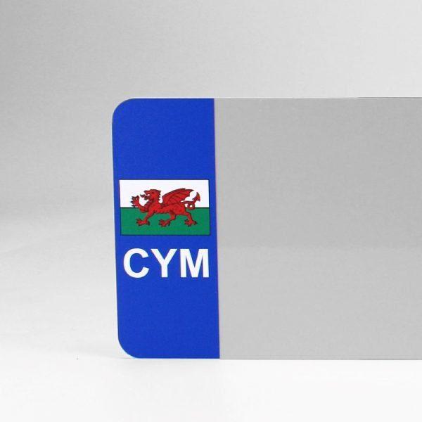 CYM Flagged White Reflective