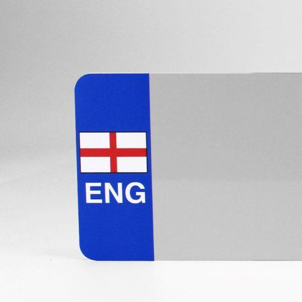 ENG Flagged White Reflective