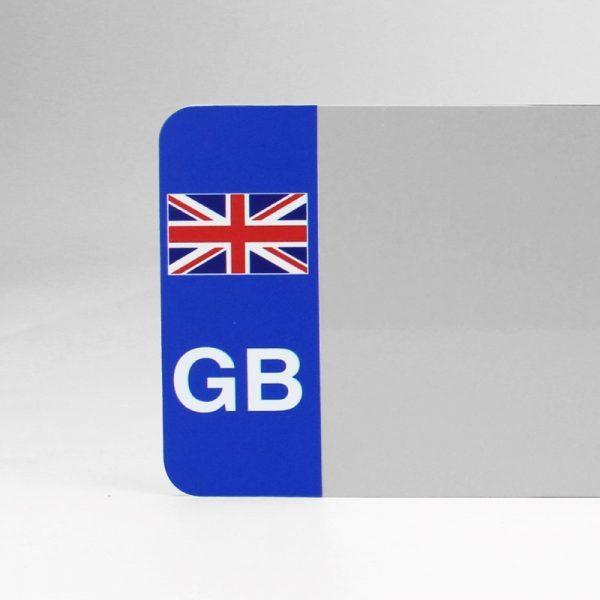 GB Flagged White Reflective