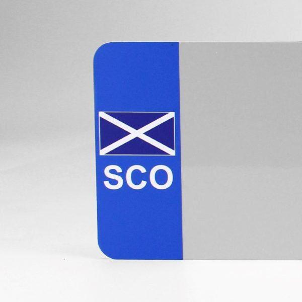 SCO Flagged White Reflective