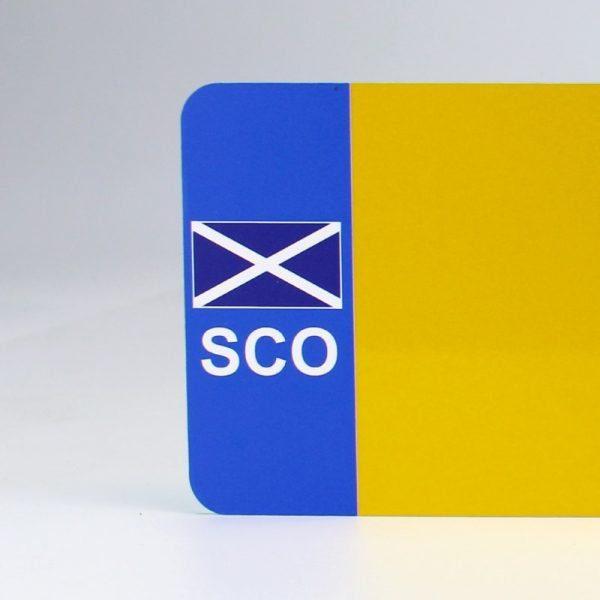SCO Flagged Yellow Reflective