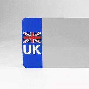 UK Flagged White Reflective