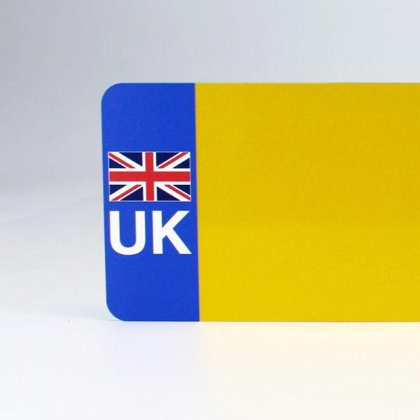 UK Flagged Yellow Reflective