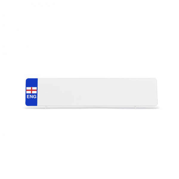 nrd001wpeng White ENG Flag Reflective