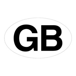 10 Oval GB Stickers