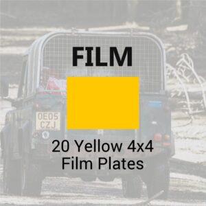 20 Yellow 4x4 Film Plates Bundle