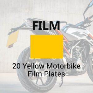 20 Yellow Motorbike Film Plates Bundles