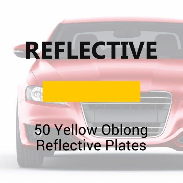 50-Yellow Oblong Reflective Plates