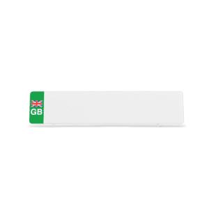 White ZEV GB Flag Reflective