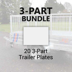 20 3-Part Trailer Plates