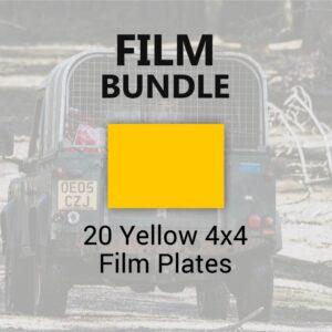 20 Yellow 4x4 Film Plates