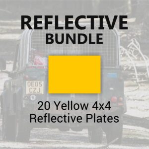 20 Yellow 4x4 Reflective Plates
