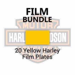 20 Yellow Harley Film Plates