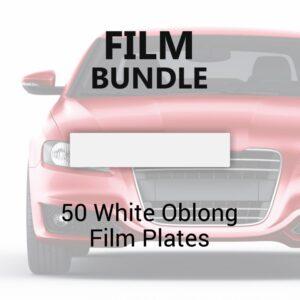 50 White Oblong Film Plates