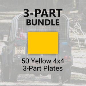 50 Yellow 4x4 3-Part Plates