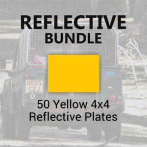 50 Yellow 4x4 Reflective Plates