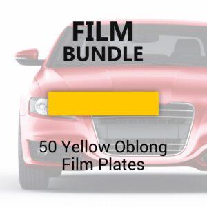 50 Yellow Oblong Film Plates