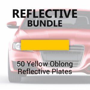 50 Yellow Oblong Reflective Plates