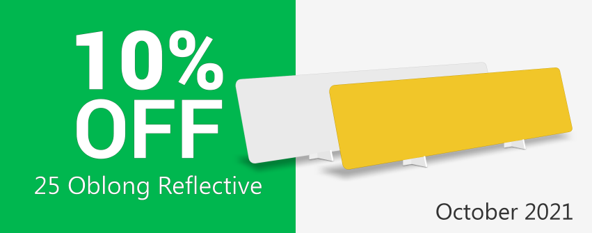Save on Packs of 25 Oblong Reflective Sheets