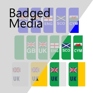Tennants National Flags Green ZEV and Overseas Side Badges