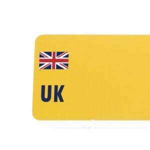 Yellow Overseas Badge